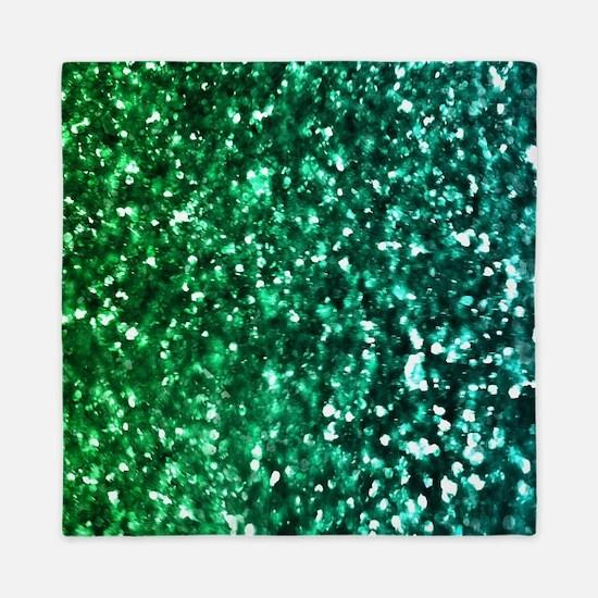 Cute Green Queen Duvet