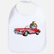 Vintage Car Santa Bib