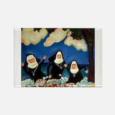 Unique Nuns Rectangle Magnet