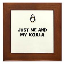 just me and my koala Framed Tile