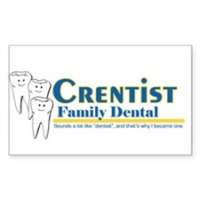 crentist Rectangle Decal