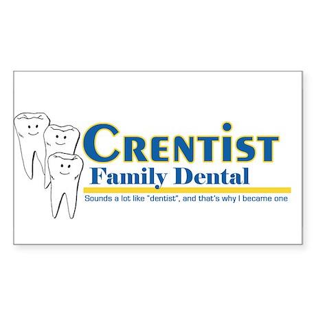 crentist Rectangle Sticker