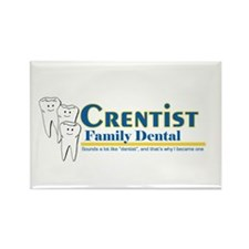 crentist Rectangle Magnet
