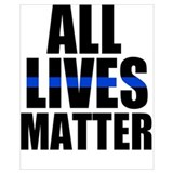Blue lives matter Wrapped Canvas Art