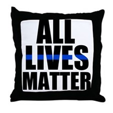 The thin blue line Throw Pillow