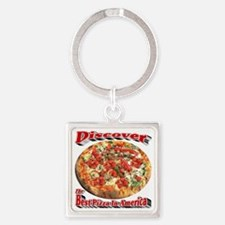 Discover The Best Pizza In America Square Keychain