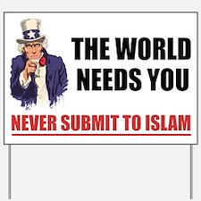 Uncle San Against Islam Yard Sign