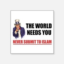 Uncle San Against Islam Sticker