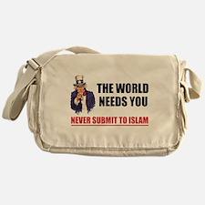 Uncle San Against Islam Messenger Bag