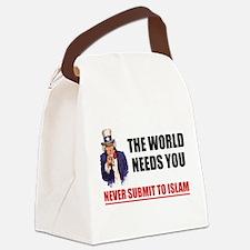 Uncle San Against Islam Canvas Lunch Bag