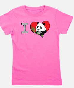 Cute Childrens panda Girl's Tee