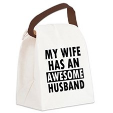 Cute Awesome husband Canvas Lunch Bag