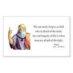 Plato 1 Rectangle Sticker