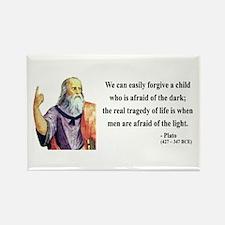 Plato 1 Rectangle Magnet