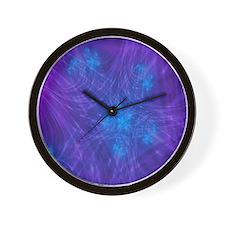 Mitosis Purple Wall Clock