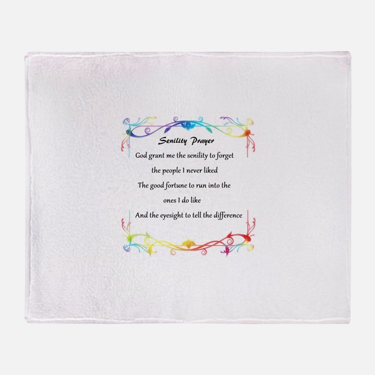 Cute Senility Throw Blanket