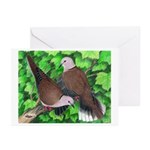 Ringneck Doves Greeting Cards (Pk of 20)