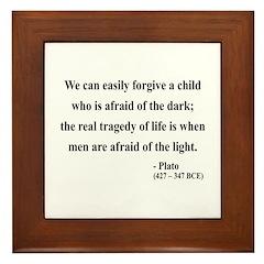 Plato 1 Framed Tile
