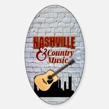 Nashville & Country Music-SG5-01 Sticker (Oval)