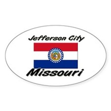 Jefferson City Missouri Oval Decal