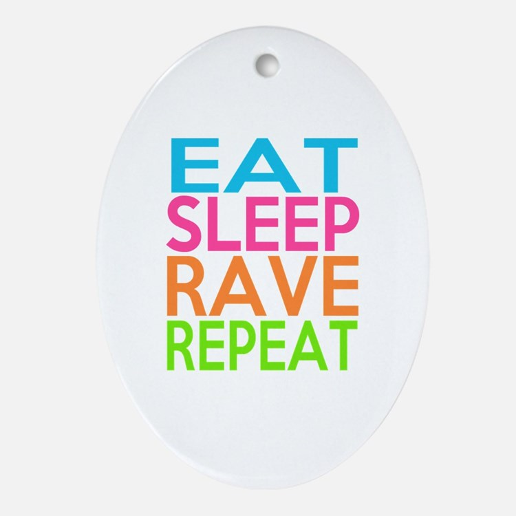 Cute Rave Oval Ornament