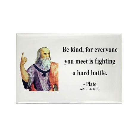 Plato 2 Rectangle Magnet (10 pack)
