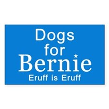 Dogs For Bernie Sticker (rectangle)