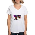 Rainbow Unicorn<br> Women's V-Neck T-Shirt