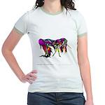 Rainbow Unicorn<br> Jr. Ringer T-Shirt