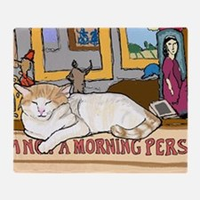 Unique Cat coffee Throw Blanket