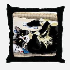 Unique Tuxedo cats Throw Pillow