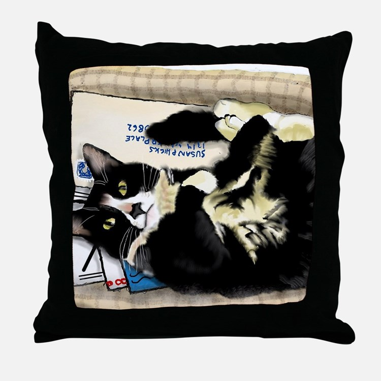 Cute Cats curled up Throw Pillow