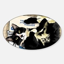 Cute Cats curled up Sticker (Oval)