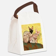 Cute Cornish rex Canvas Lunch Bag