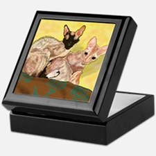 Cute Cornish rex Keepsake Box