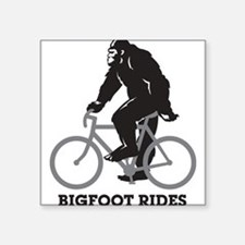 "Cute Mountain bike Square Sticker 3"" x 3"""