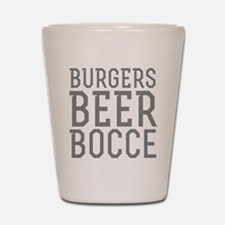 Burgers Beer Bocce Shot Glass