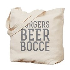 Burgers Beer Bocce Tote Bag