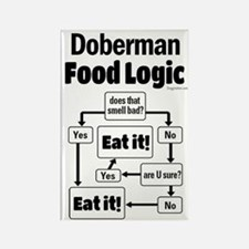 Doberman Food Rectangle Magnet