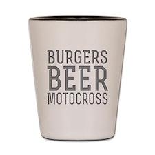 Burgers Beer Motocross Shot Glass