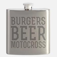 Burgers Beer Motocross Flask