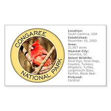 Congaree NP (Cardinal) Rectangle Decal