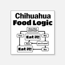 "Chihuahua Food Square Sticker 3"" x 3"""