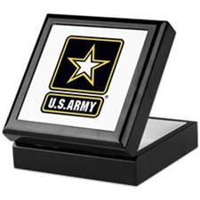 US Army Gold Star Logo Keepsake Box