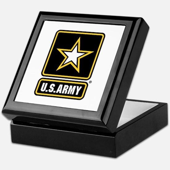 US Army Gold Star Logo Keepsake Box