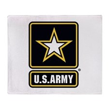 US Army Gold Star Logo Throw Blanket