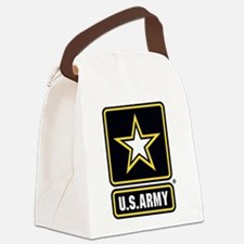 US Army Gold Star Logo Canvas Lunch Bag