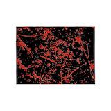 Black blood splatter 5x7 Rugs