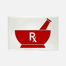 Unique Pharmacy rx. Rectangle Magnet