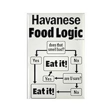 Havanese Food Rectangle Magnet